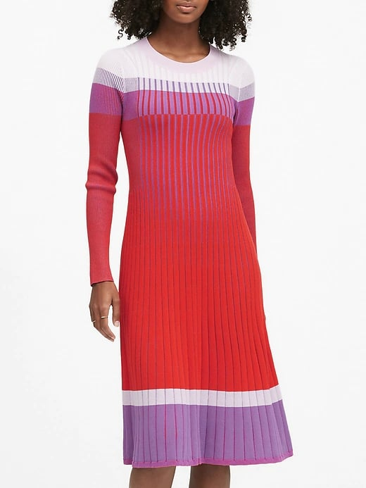 Colour-Block Sweater Dress