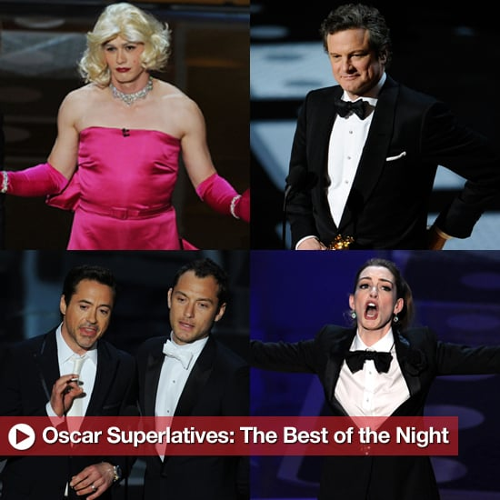 2011 Oscars Best of the Night, Including James Franco, Robert Downey Jr, and More 2011-02-28 14:56:54