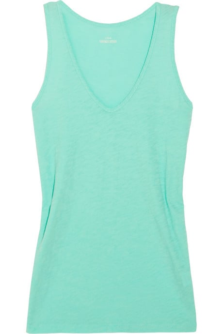 Mint is one of the colors of the season, and this V-neck tank will go with everything.  J.Crew Vintage Cotton Tank ($25)
