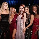 Lili Reinhart, Vanessa Morgan, Madelaine Petsch, Camila Mendes, and Ashleigh Murray