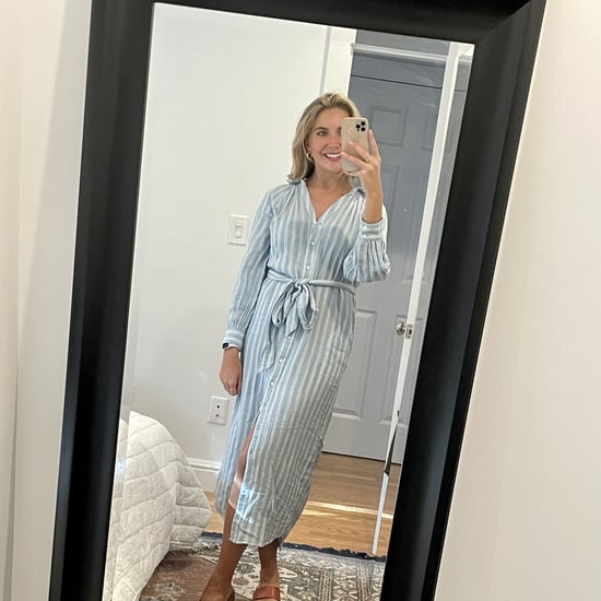 Old Navy Long-Sleeve Striped Midi Dress | Editor Review