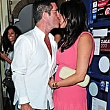 Simon Cowell and Lauren Silverman kissed.