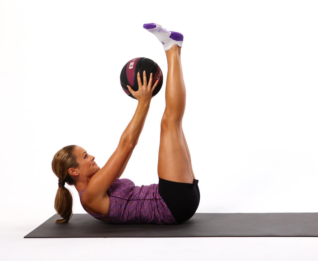 how to use gym ball for abs