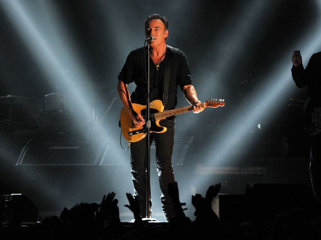 Bruce Springsteen took the stage at the 2012 Grammys.