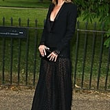 Leave it to Kate Moss to deliver the perfect balance between edgy and elegant in all black Saint Laurent at the annual Serpentine Gallery Party in London.