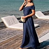 Gal Meets Glam Collection Off-the-Shoulder Maxi Dress