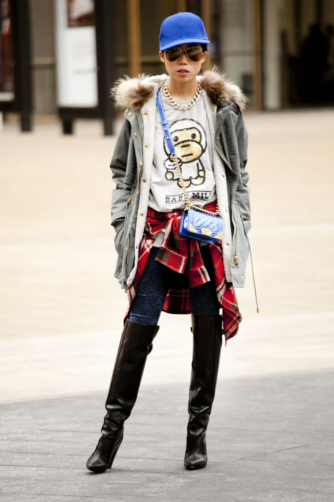 Mismatched punk, grunge, and high-impact accessories.