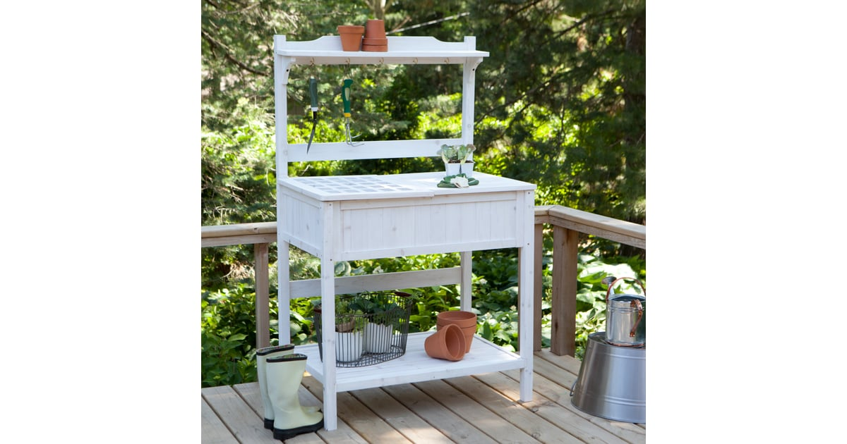 This White-washed Potting Bench ($170) Is Full Of