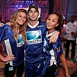 Chace Crawford hung out with teammates Erin Andrews and Chrissy Teigen at the 2012 Celebrity Beach Bowl Game.