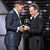 Kiefer Sutherland presented Dewy Bozella with the Arthur Ashe Courage Award.