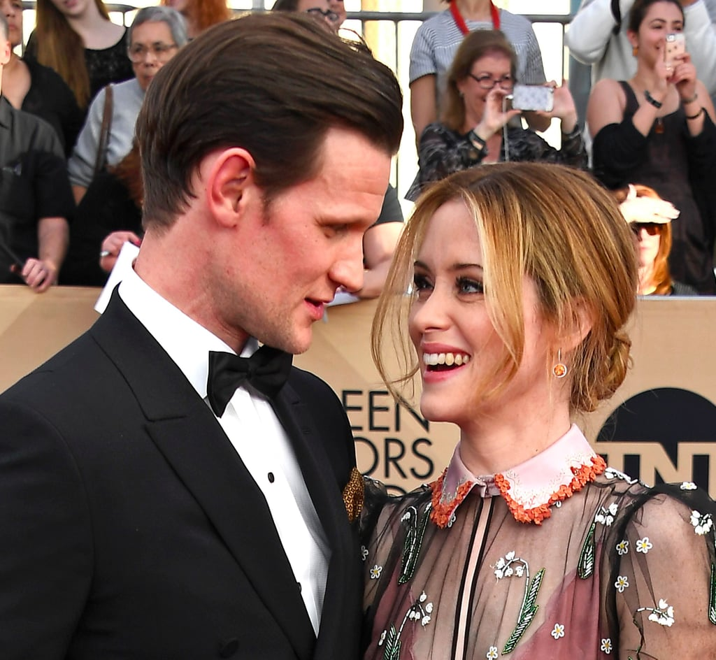 The Crown's Matt Smith and Claire Foy at the SAG Awards 2017