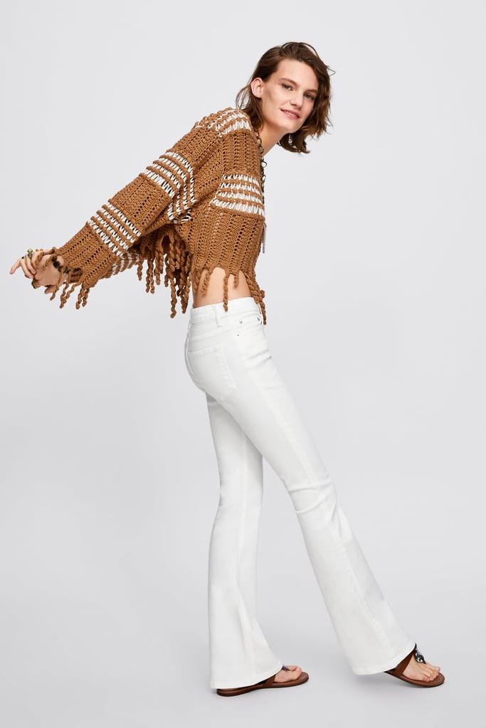 20f89525a7 Zara Premium Skinny Flare Jeans in White   Jennifer Lopez in ...