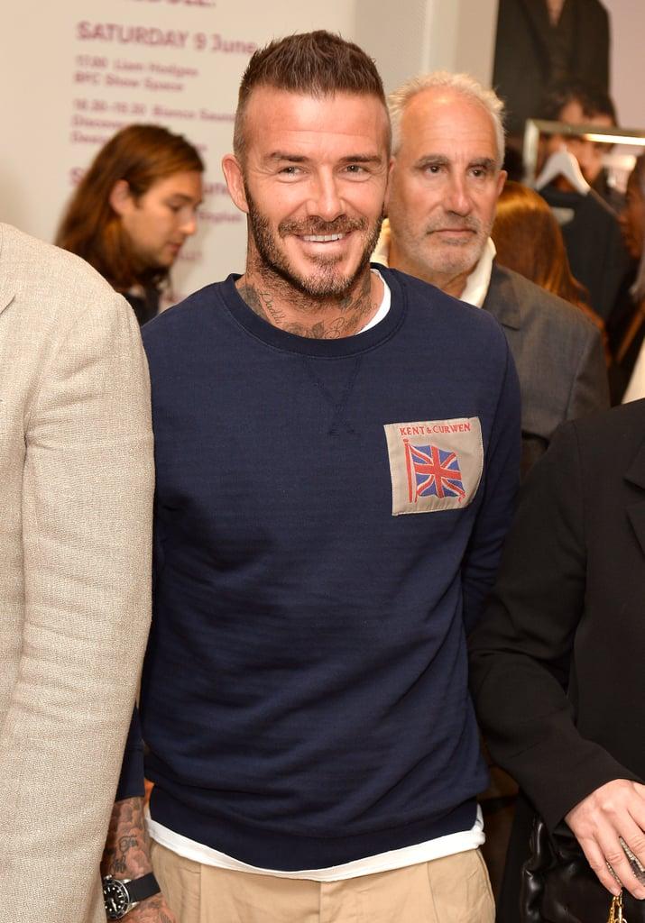 David Beckham at London Fashion Week Men's 2018