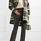 Chloé Oversized Plaid Mohair-Blend Jacket