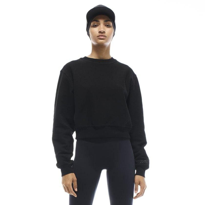 Reebok x VB Cropped Sweatshirt — Black