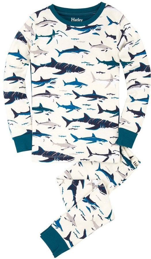 Hatley Youth Boy's Toothy Shark PJ Set