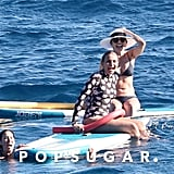 Cameron Diaz Wearing a Floral Wetsuit in France