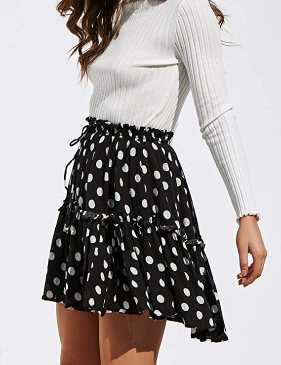 Relipop Flared Short Skirt