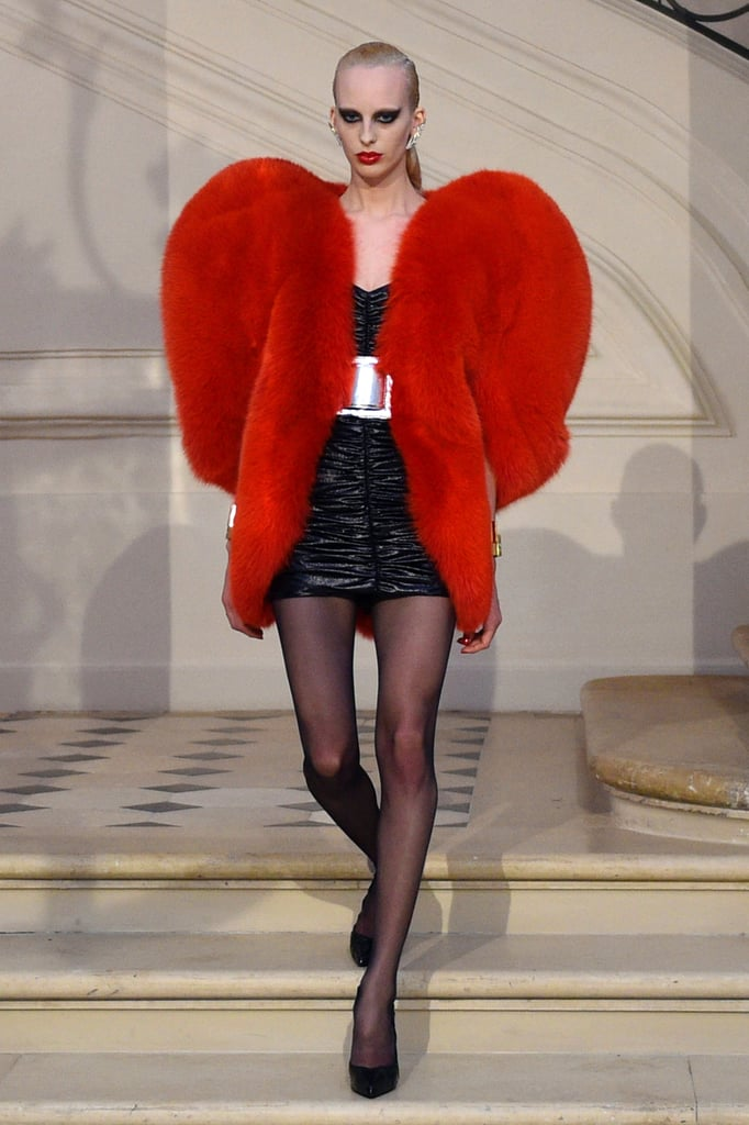 Saint laurent red heart coat trend popsugar fashion for Bureau yves saint laurent
