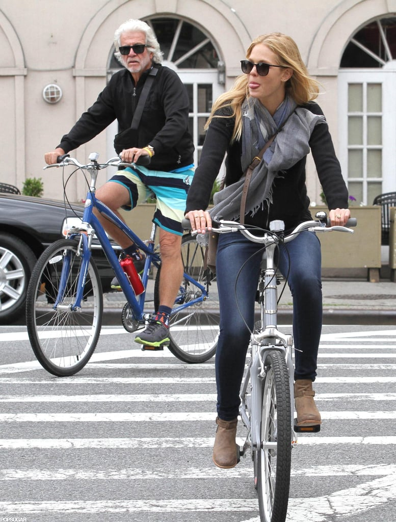 Erin Heatherton went for a bike ride in NYC.