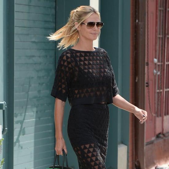 Heidi Klum Wearing Matching Set