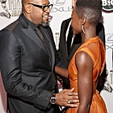 She shared a sweet moment at the event with Forest Whitaker as well.