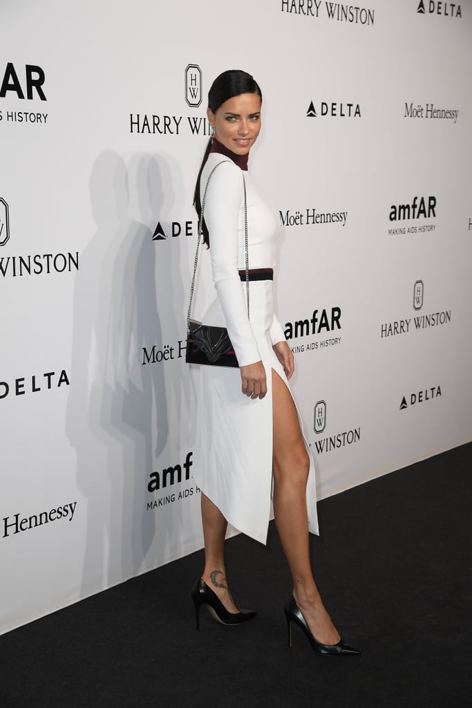 Adriana Lima at Milan Fashion Week Spring 2017