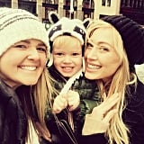Hilary Duff spent her day of play with her son, Luca, and her friend.
