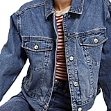 Topshop Boxy Crop Denim Jacket