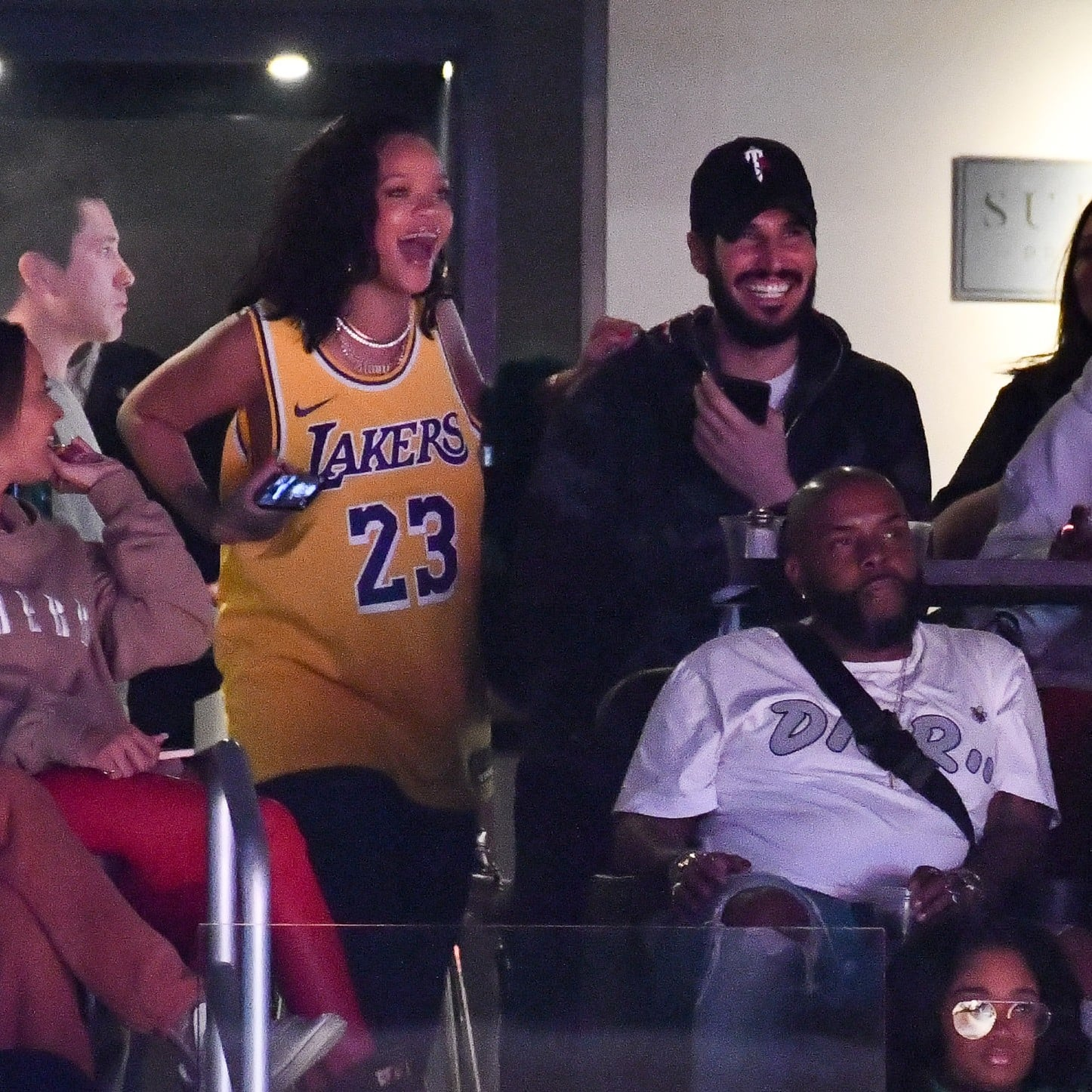 Rihanna And Hassan Jameel At Lakers Game February 2019 Popsugar Celebrity
