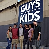 Jimmy Fallon paid a visit to the set of Guys With Kids, which he produces. Source: Instagram user jimmyfallon