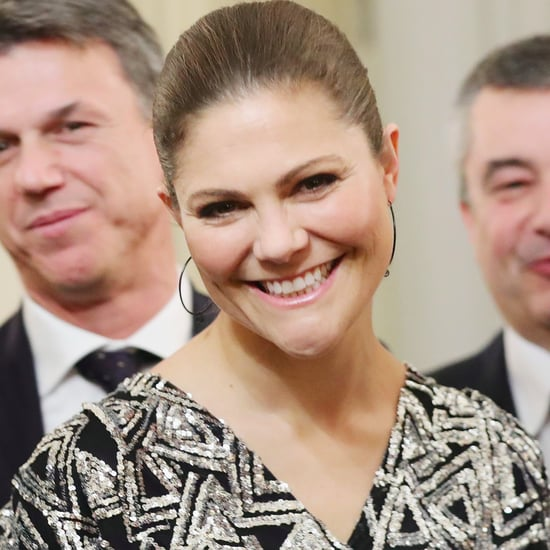 Crown Princess Victoria Daisy Grace Sequin Top December 2016