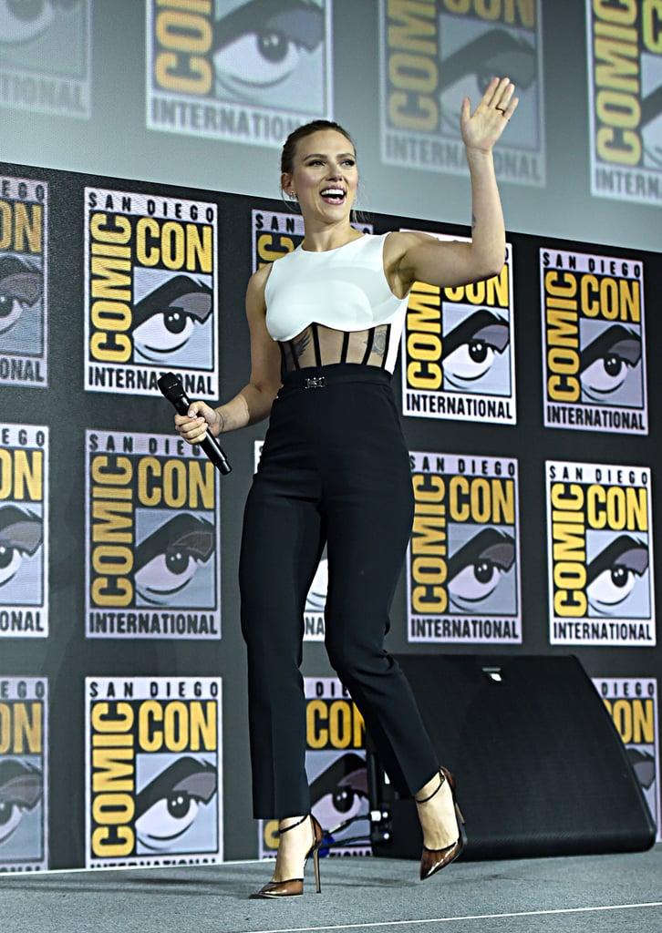 Pictured: Scarlett Johansson at San Diego Comic-Con.