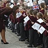 Kate Middleton really is the People's Princess! She lived up to her rep by bending down to speak to a group of adorable school kids during a visit to England's Havelock Academy in March.