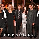 Pictured: Jerry Hall, Elizabeth Jagger, Georgia May Jagger, Mick Jagger, Rupert Murdoch, James Jagger, and Lachlan Murdoch