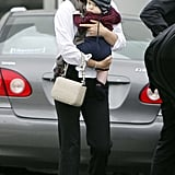 Natalie Portman carried her son Aleph Millepied.