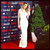 Jennifer Hawkins showed the budding models how it's done at the Australia's Next Top Model finale on Tuesday night.