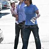 Nicole Kidman walked in LA with daughter Faith and husband Keith.