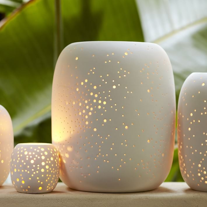 Constellation Pierced Porcelain Candle Vase
