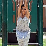 Halle Berry also played on the monkey bars.