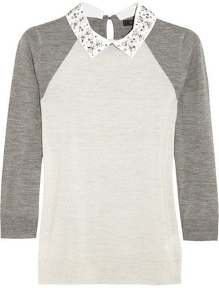 J.Crew has been taking its game to a new level this year by putting cute embellishments on its classic sweaters. The bedazzled collar on this merino wool sweater ($140) makes it a piece worth investing in. — Becky Kirsch, entertainment director