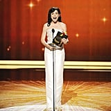"""""""I'm Julianna Margulies, otherwise known as the funniest woman on television. It's true. look it up."""" — Julianna Margulies, presenting the award for best supporting actor in a comedy.  Photo courtesy of Fox"""