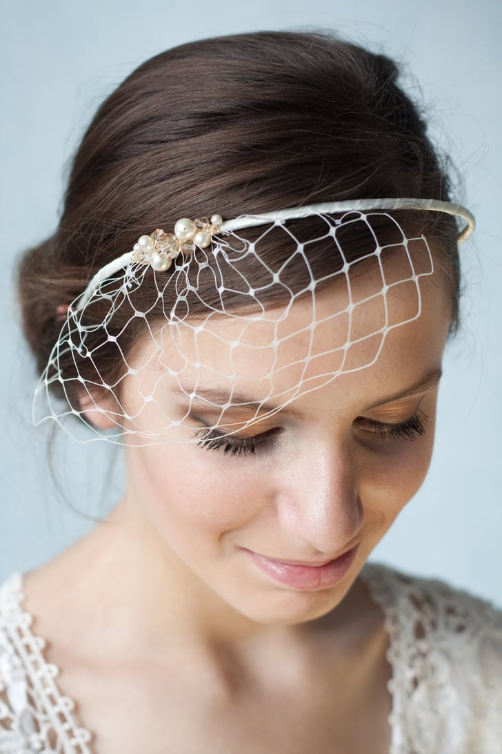 with hair styles a bridal ivory birdcage veil headband 55 is simple and 3762