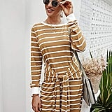 KIRUNDO  Sweatshirt Knit Striped Dress