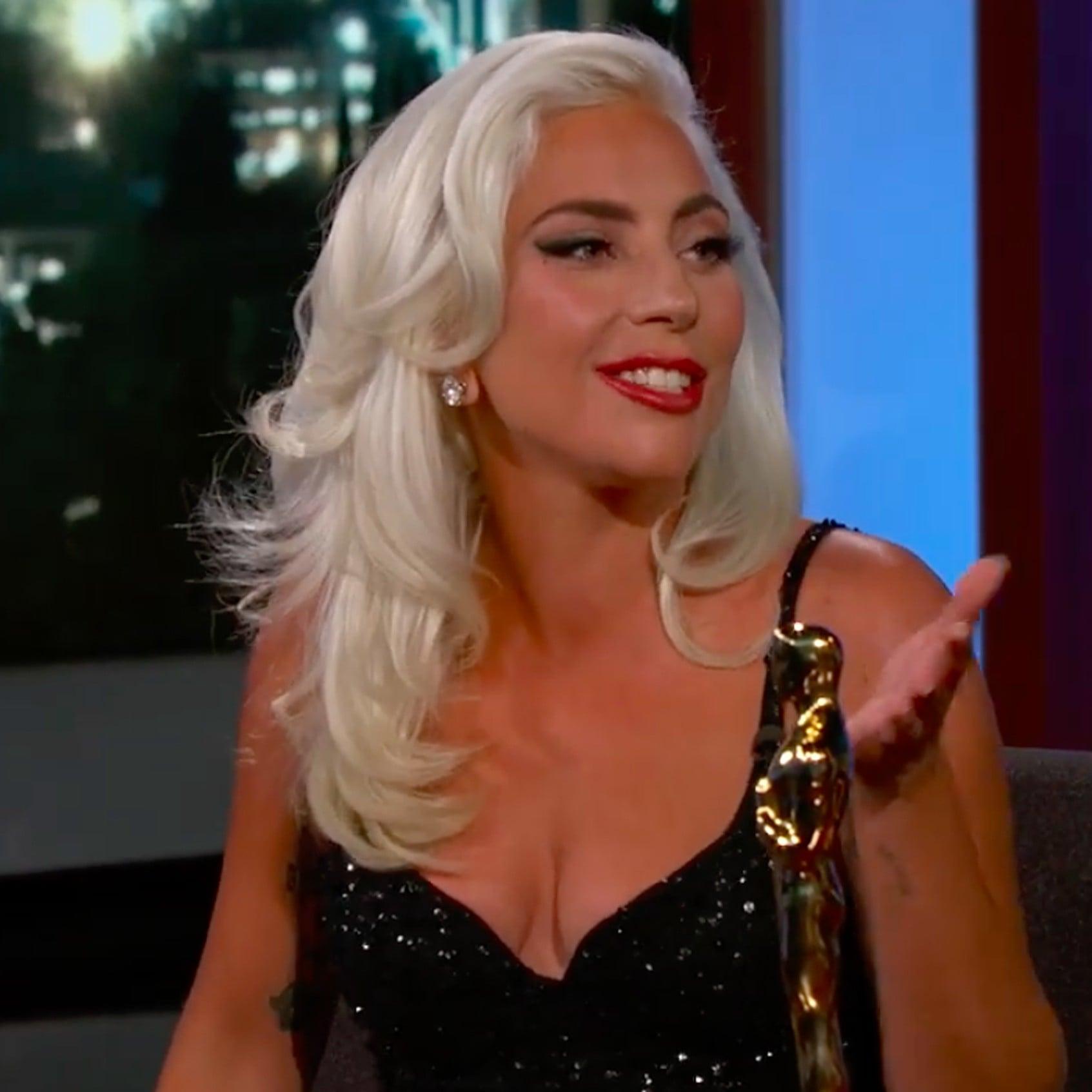 afaf79e1a0 Lady Gaga on Jimmy Kimmel Live Feb. 2019 Video