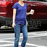 Keri Russell was comfortable in a sleek t-shirt and jeans in NYC.