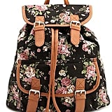 Charlotte Russe's Floral Canvas Backpack ($27) takes us right back to our middle-school days. Pair it with a baby-doll dress and ballet flats.