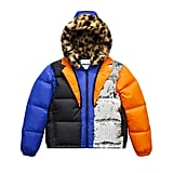 Color-Block Down Jacket
