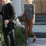 Taylor Swift left her LA home with her mom, Angela Finlay.