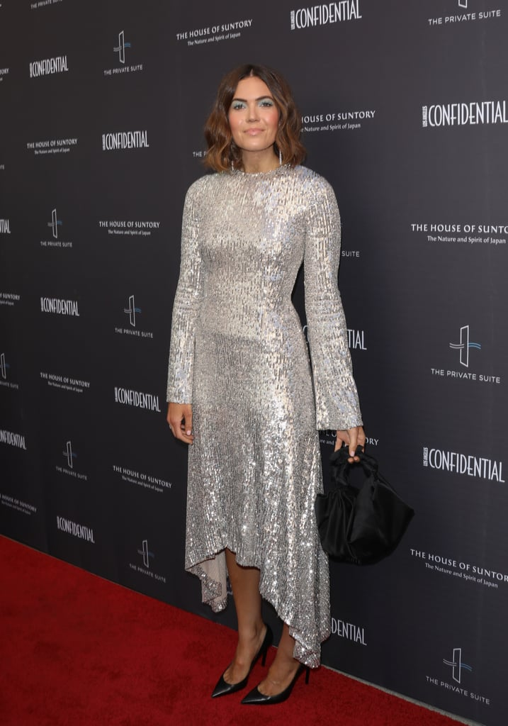Mandy Moore's Silver Sequined Dress Is Made For Shining on the Red Carpet